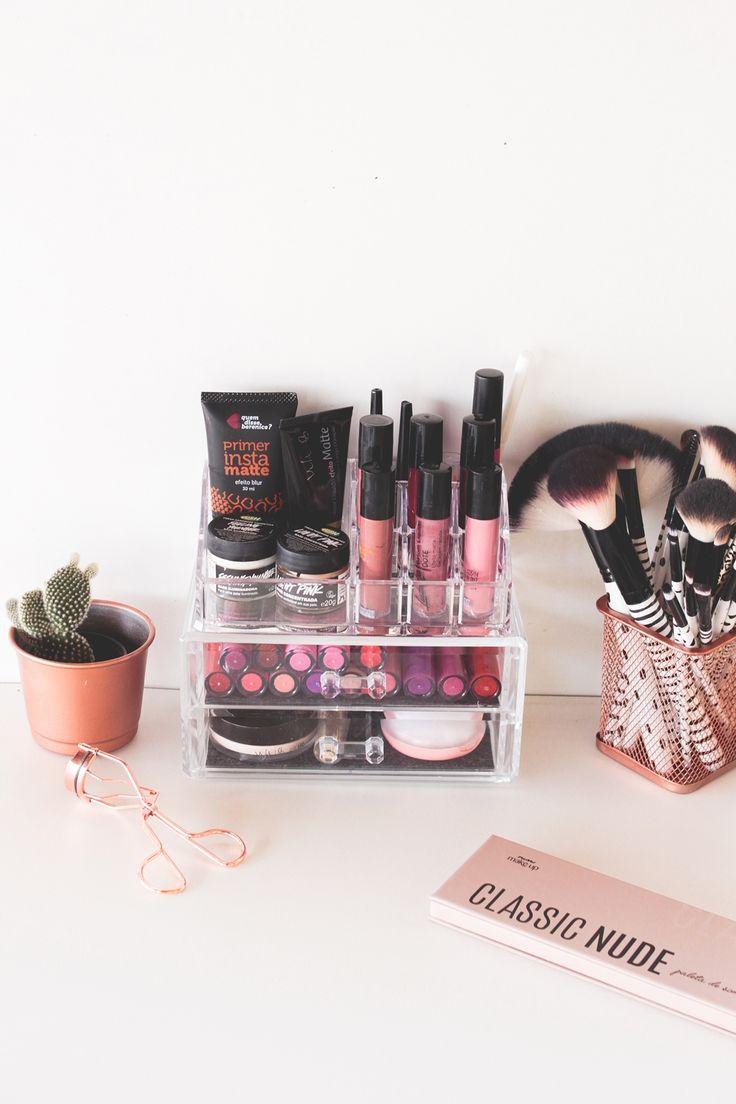 5 dicas para organizar suas maquiagens (clique na imagem para ler o post completo!)