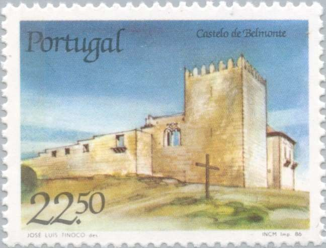 Sello: Belmonte Castle (Portugal) (Portuguese Castles and Fortresses) Mi:PT 1699,Sn:PT 1668,Afi:PT 1775