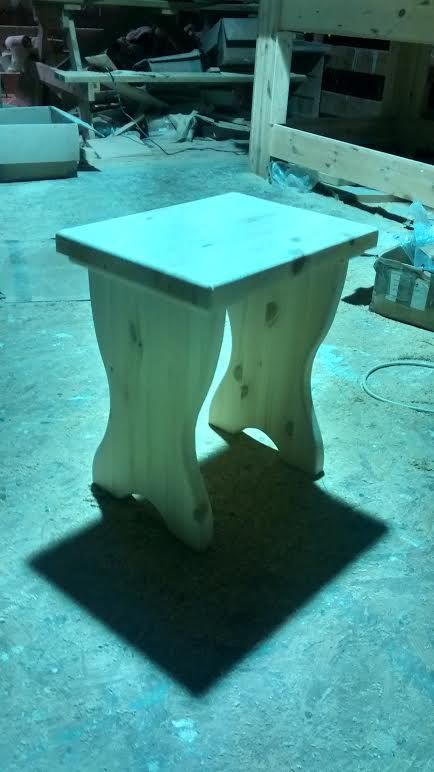 Hand made pine dressing table stool: http://www.pinefurniturecornwall.co.uk/search.asp?types=Dressing+Tables