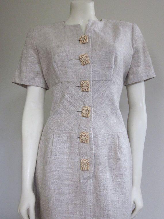 Safari Dress 1980s / New / Santa Fe / Tribal by TheThriftingMagpie, $28.00