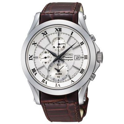 Montre Seiko Premier chronographe alarme SNAF21P1