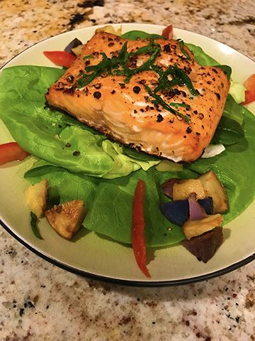 Have some heart-healthy salmon this week.