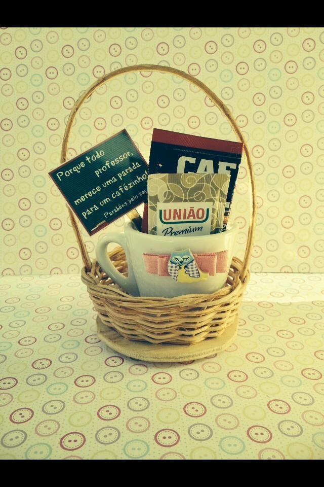 Mini cestinha de Café personalizada para qualquer ocasião.  Especial Dias dos Professores
