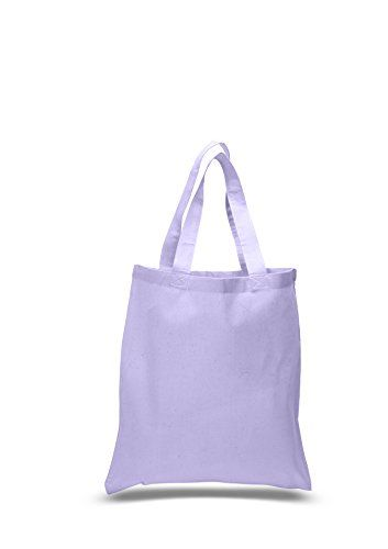 BagzDepot Flat Bottom Cotton Reusable Plain Tote Bag with...