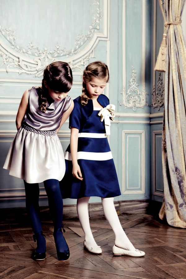 Classy And Elegant Black And White Flooring Design Ideas: Little Girls In Elegant Dresses...the Dream