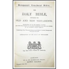 1906 Nonpareil Teachers Holy Bible. 15 000 Copies Ever Printed. View Pictures.