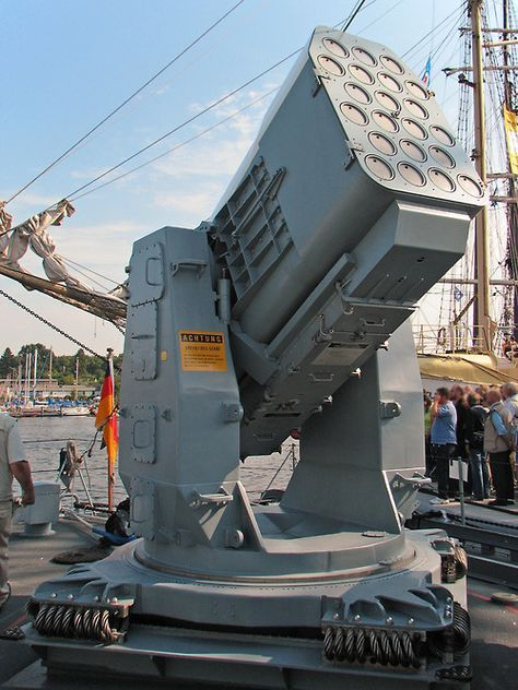 RAM Launcher on fast attack craft Ozelot of the German Navy.