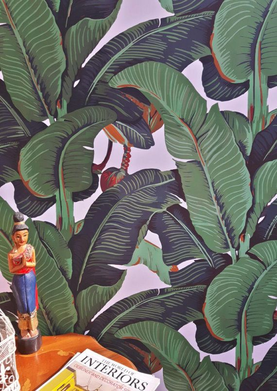 NEW! Carta da parati foglie di Banano