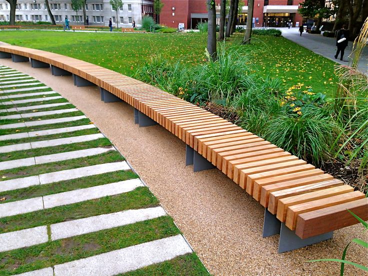 Clifton Curved Seat: Woodscape Street Furniture. Timber #outdoor #furniture