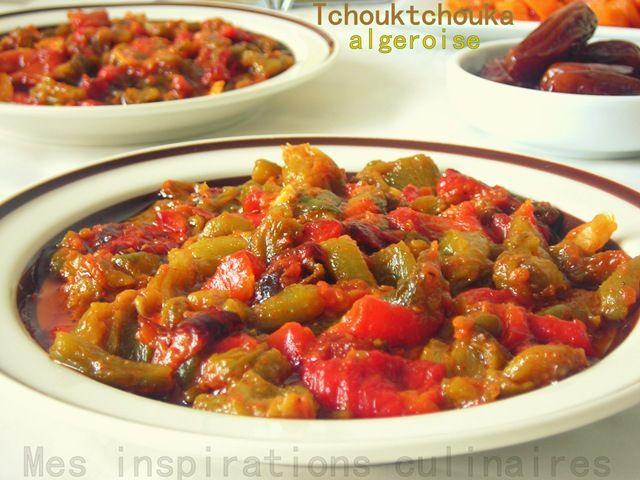 Tchouktchouka algeroise / salade de poivrons grillés