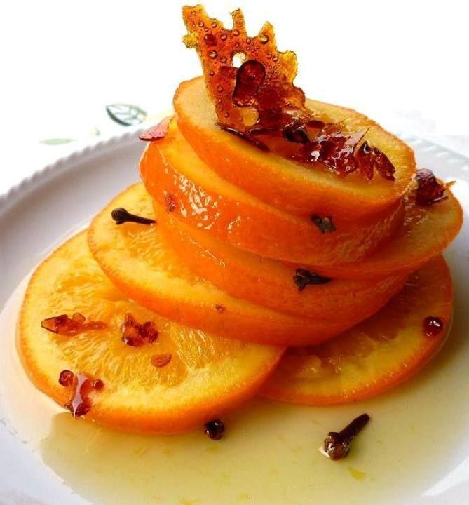 Caramelized oranges