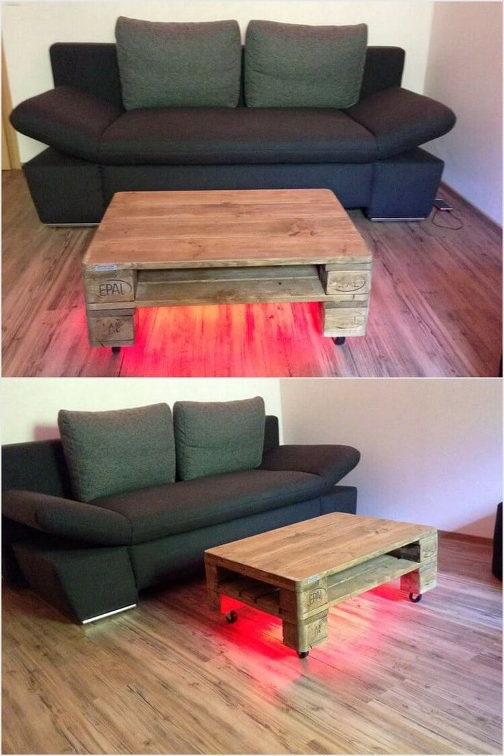 Wood pallet coffee table do you assume wood pallet coffee table - Pallet Table With Lights