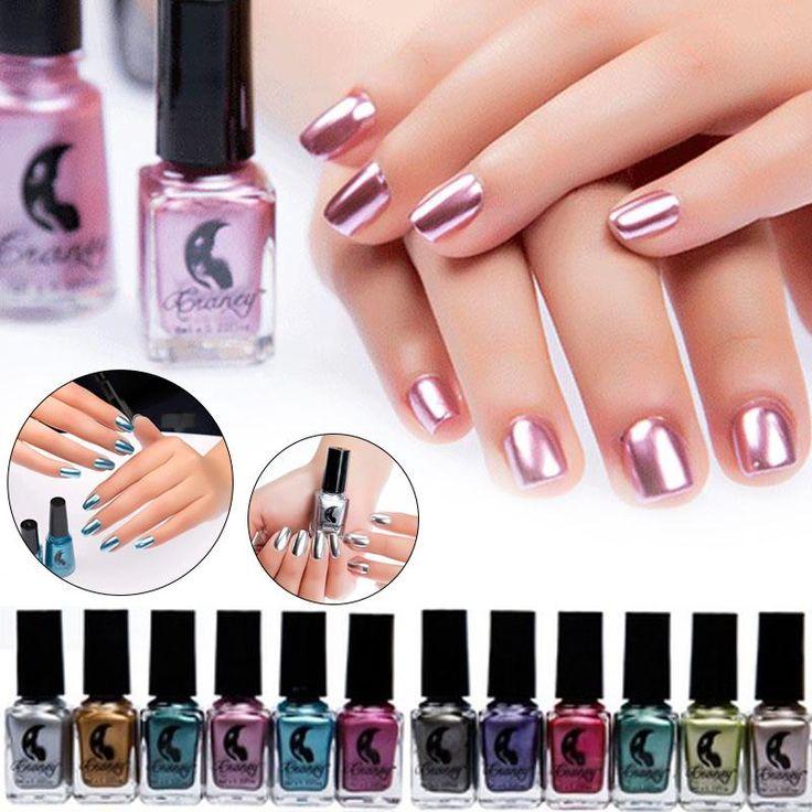 Mirror Nail Polish Metallic Color Nagellak Latex Liquido Vernis Makeup Nail Lacquer Polish Mirror Effect Gel Nail Polish