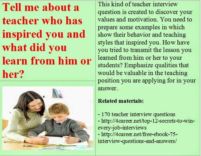 interview questions for special education