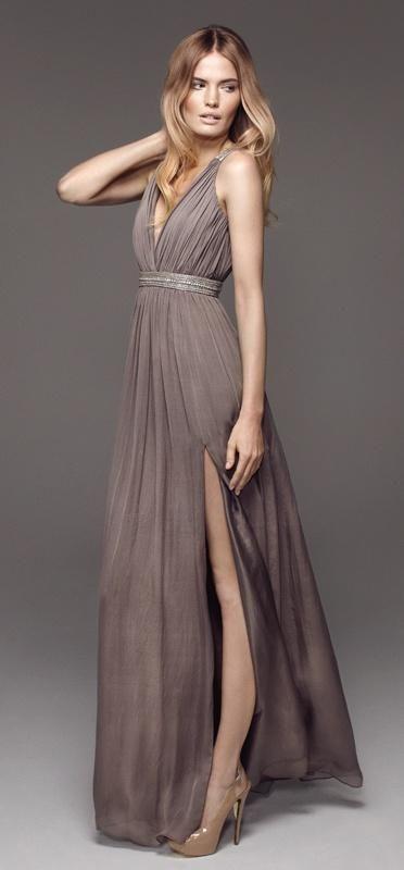 Rosita in Taupe long dress (in Jul 2012). Love ... | Fashion - Dresse…jaglady