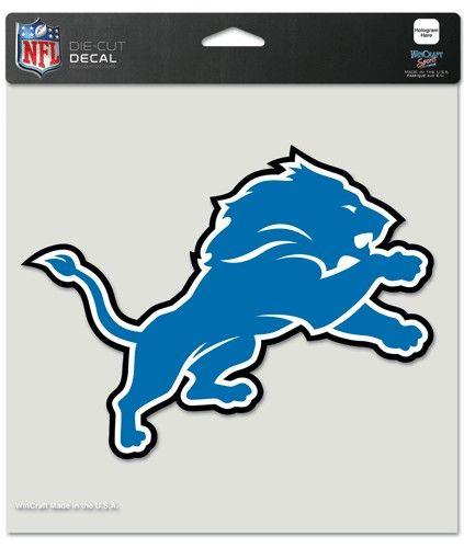 """Detroit Lions NFL Die-Cut Decal  -  8""""x8"""" Color"""