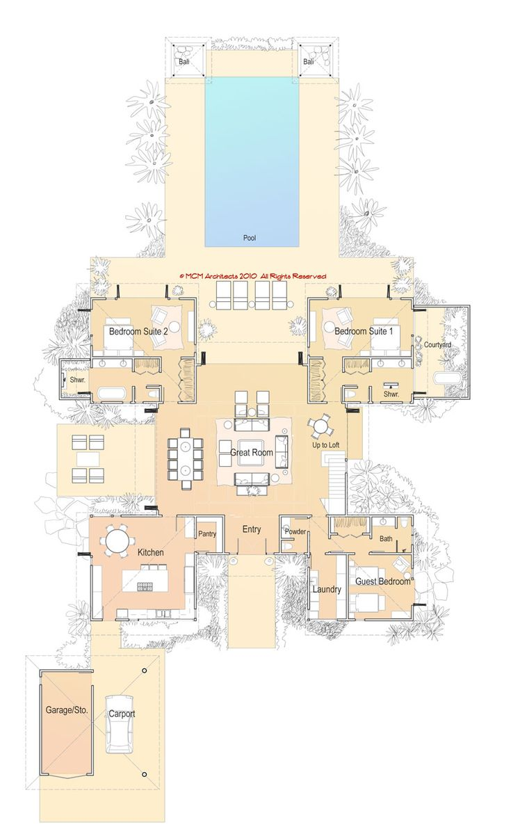 MCM DESIGN: Island House Plan 6, First Floor (storage?)