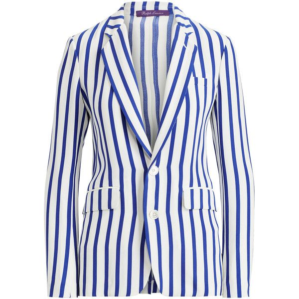 Cropped Trucker Painted Jacket | Moda Operandi (6,460 PEN) ❤ liked on Polyvore featuring outerwear, jackets, white silk jacket, stripe jacket, white jacket, silk jacket and striped jacket