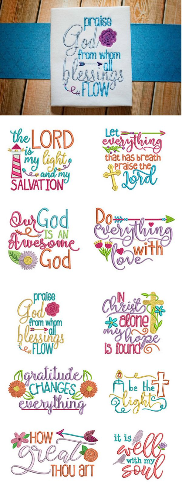 Our Soulful Sayings Set 2 features 12 beautiful, inspiring Christian sayings in 4 sizes each: 4x4 5x7 6x10 and 8x8 - Wonderful for a wide variety of projects!!