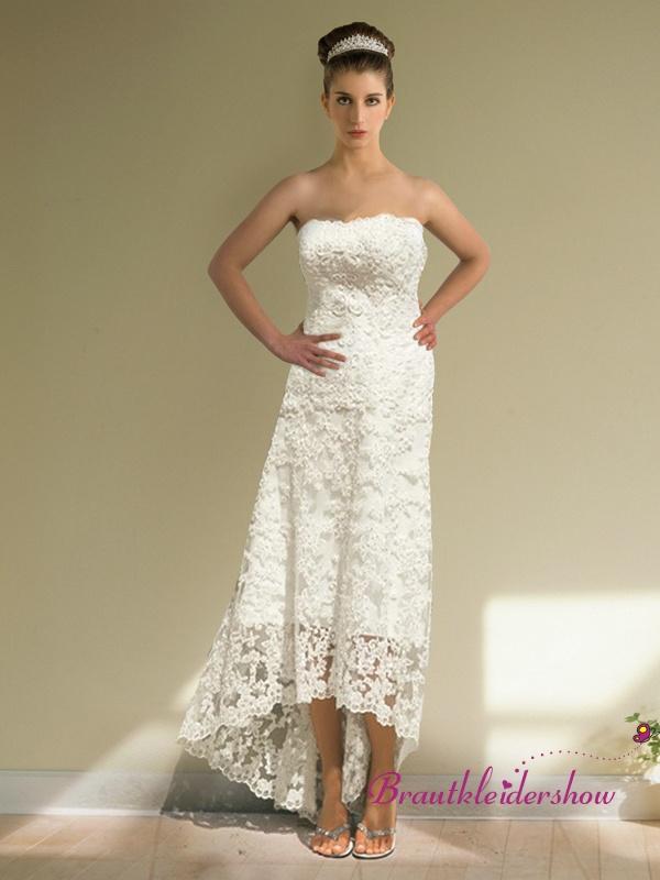 ... bodenlang Brautkleid mit Spitze Overlay romantisch GWRW133 €421.00