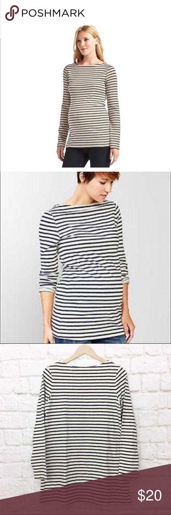 """Gap maternity striped boat neck tunic Very cute and versatile tunic. Mid weight knit fabric, perfect for ladies who are due this winter! Size Medium.  Bust 36"""", length 30"""". GAP Tops Tunics"""