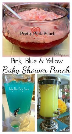 Make this baby blue punch or the pretty pink punch for a cute addition to any baby shower. Use yellow punch for a gender neutral shower!