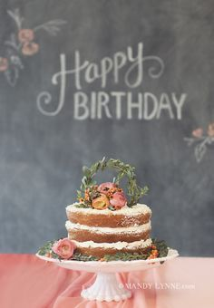Happy Birthday!   I'm liking these un frosted cakes. They're growing on me, especially the way they look.