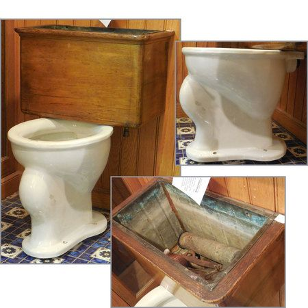 Sharing is caring!  P14009 - Antique Revival Period Detached Tank Toilet #https://www.pinterest.com/munlimited/
