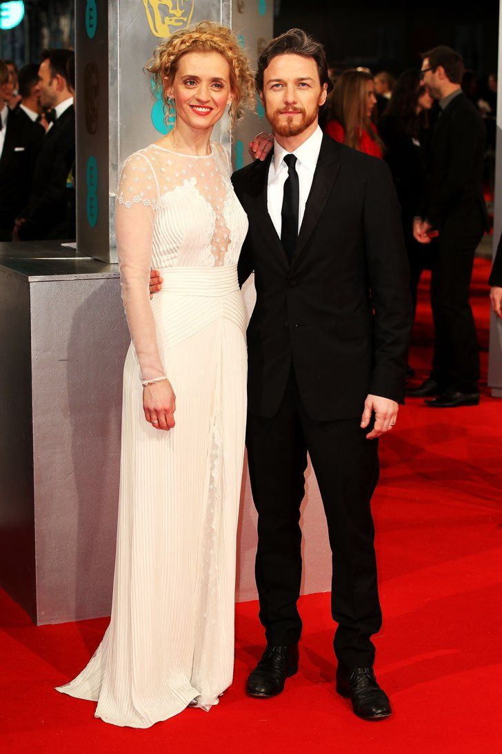Pin for Later: Stars Go All Out on the BAFTA Awards Red Carpet in London James McAvoy and Anne-Marie Duff