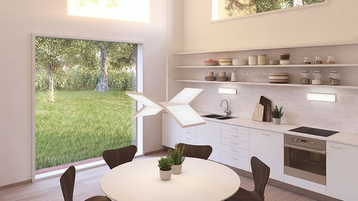 Reinterpreting what open plan living and social spaces can offer, the Hemnet Home has a social kitchen with double-height ceiling. Hemnet - Sweden's most popular property portal - has transformed 200 million clicks into a real home. Explore the home and tell us what you think.