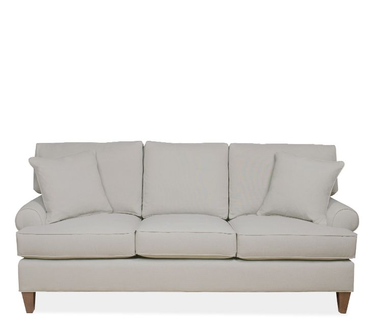 Elena Sofa   The Classic, Rolled Arm Elena Collection Features Matching  Self Toss Pillows And Tapered Wood Legs. Stocked In High Performance Crypton  Fabric, ...