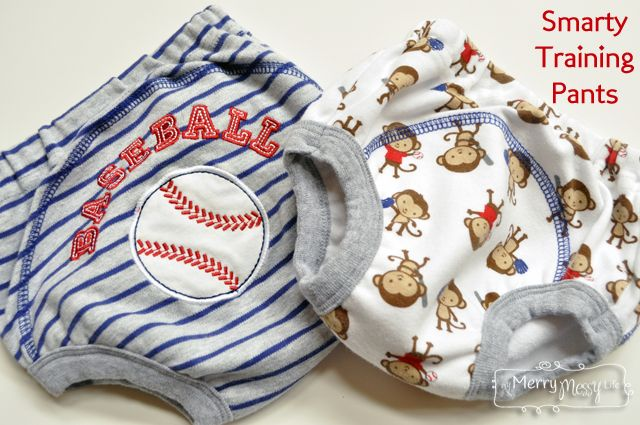 My Merry Messy Life: Smarty Pants - Training Pants for Toddler Potty Training - these really work because they are just like underwear, but have a secret waterproof lining inside!