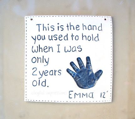 Baby Handprint - This is the hand you used to hold when i was...