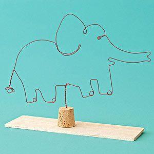 DIY Turn Your Sketches Into Wire Sculptures @FamilyFun magazine