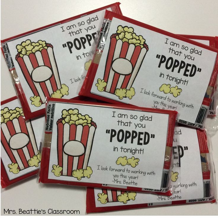 """Thank parents or classroom volunteers for """"popping"""" in with these cute popcorn labels. FREE from Mrs. Beattie's Classroom!"""