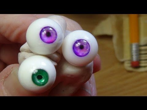 How to make beautiful glass eyes for your dolls - YouTube