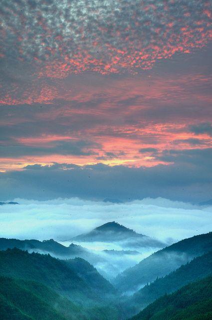 Sea of clouds, Kumano Mitsukoshi pass, Tanabe, Wakayama, Japan