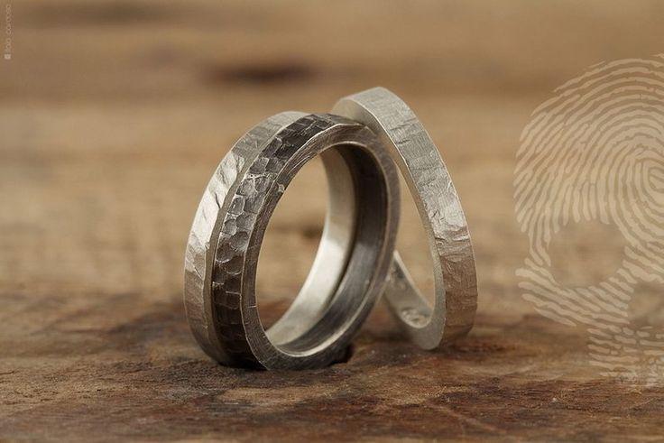 TRIO - Anéis Masculinos em Prata 925 - Joias Masculinas | QUO - Joias e Semijoias em Ouro e Prata