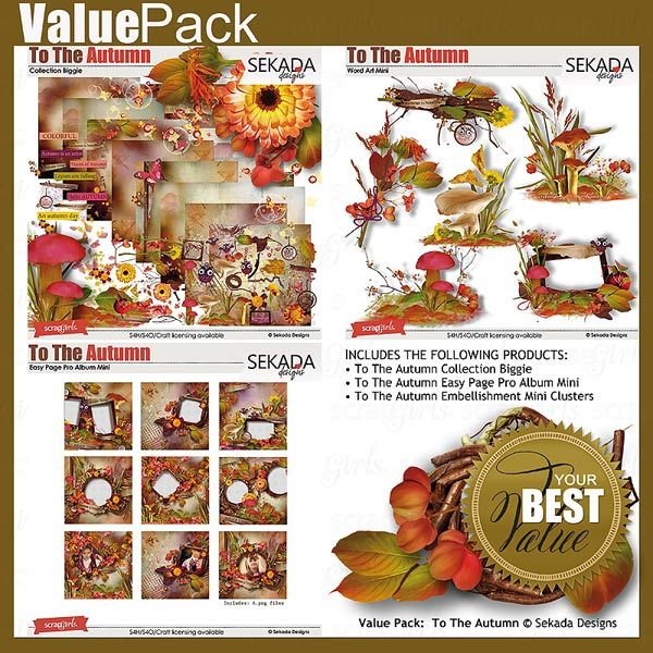 Save 35% off ALL my store Only today and tomorrow  Value Pack: To The Autumn