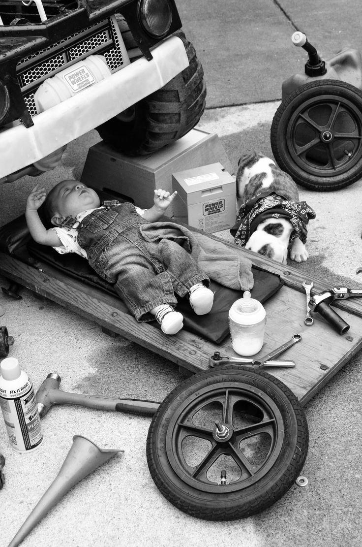 Baby Mechanic Photoshoot Fathers Day Pinterest Baby