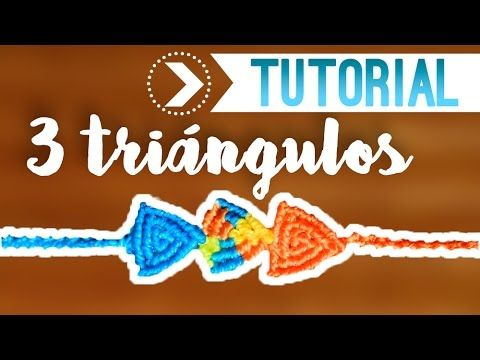 3 Triangles / ♥ ︎ easy macrame bracelet | DIY | Step by Step - YouTube