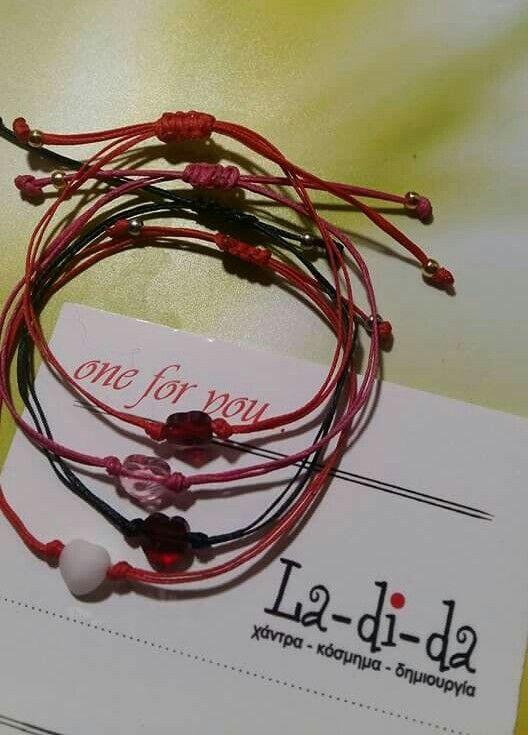 Για την γιορτή των ερωτευμένων και όχι μόνο... Βραχιολάκια για τις αγαπημένες σας με #swarovski #ladidagr #ladida #skg #red #pink #black #white #valentines #valentinesday #heart #heart❤️ #bracelet