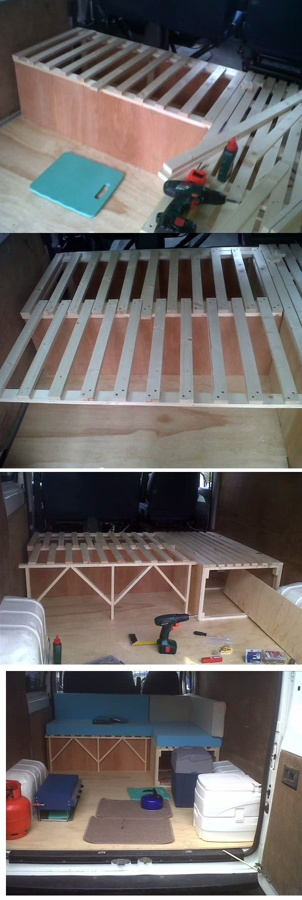 Pull Out Bed / Couch for Van Conversion with storage