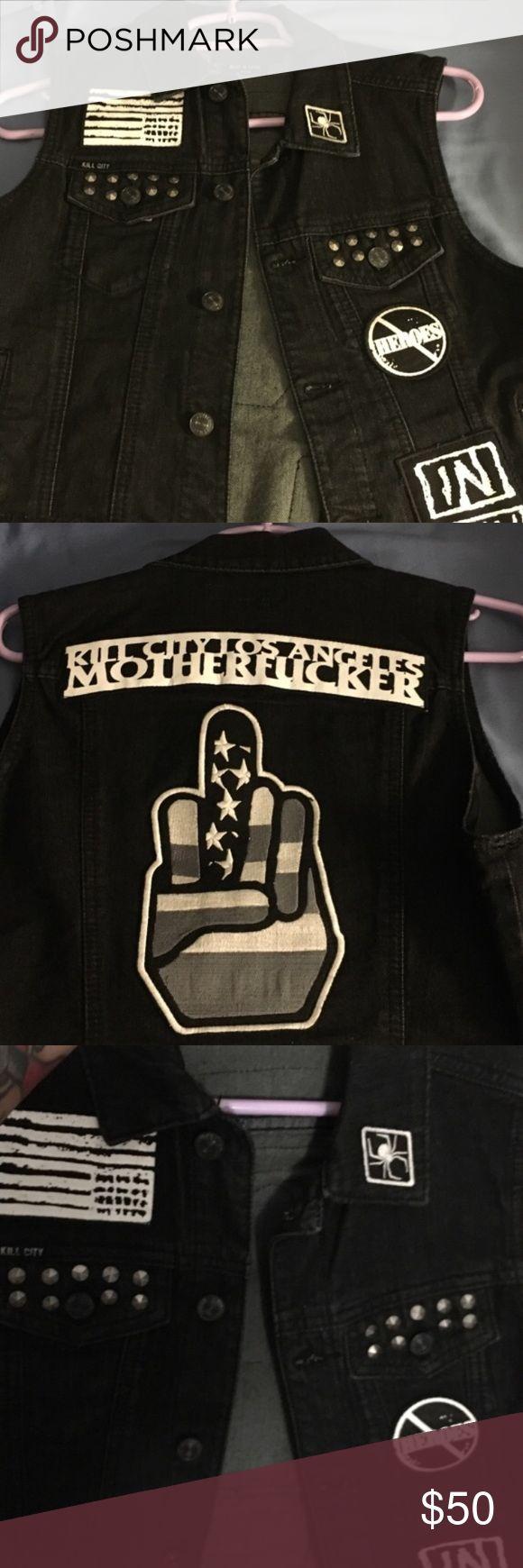 Kill City Kill City Denim Los Angeles Vest. Never been worn kill city Jackets & Coats Vests