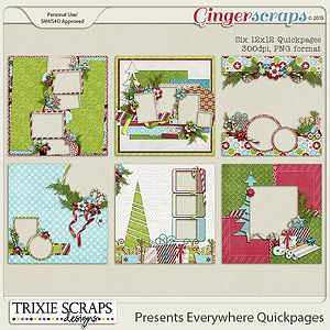 Presents Everywhere Quickpages by Trixie Scraps Designs