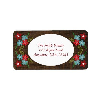Merry & Bright Christmas Address Labels - rustic gifts ideas customize personalize