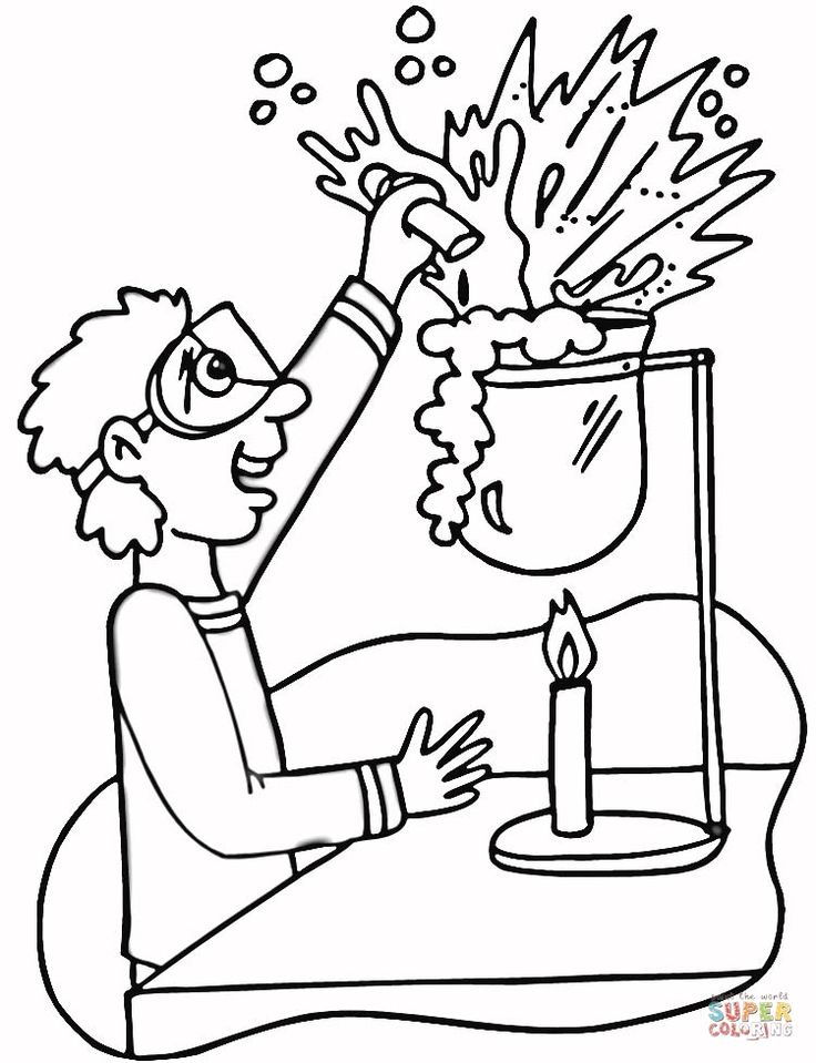 Printable Chemistry Coloring Pages