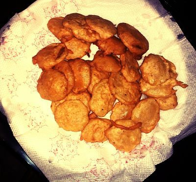 Allu ke pakore - Click to see Recipe and Nutrition Chart