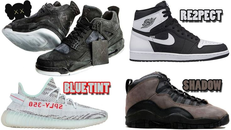 KAWS AIR JORDAN 4 BLACK, JORDAN 1 RE2PECT, JORDAN 10 SHADOW, YEEZY DATES...
