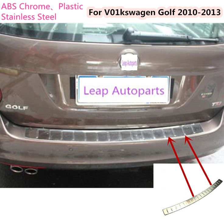 For VW Golf6 Golf 2010 2011 2012 2013 Stainless Steel outside Rear Bumper tailgate pedal Strip trim plate lamp threshold 1pcs #Affiliate
